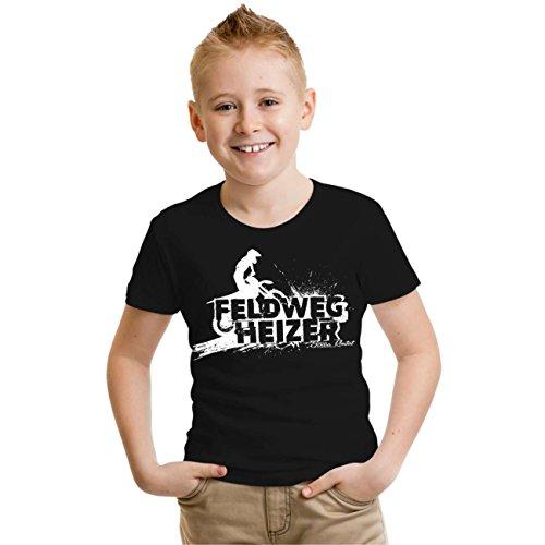 Motocross T-shirts (Kinder T-Shirt Feldwegheizer (mit Rückendruck) Größe 86-164)