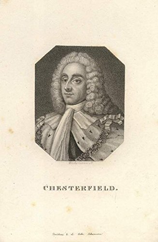Chesterfield. Kupferstich-Porträt von Wachsmann.
