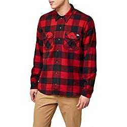 Dickies Streetwear Male Shirt Sacramento, Camisa Deportiva Para Hombre, Rojo, Grande (L)