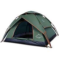 Toogh Wasserdichtes Pop Up Zelt 2-3 Personen Leichtes Wurfzelt mit Tragetasche für Camping Festival Fischen