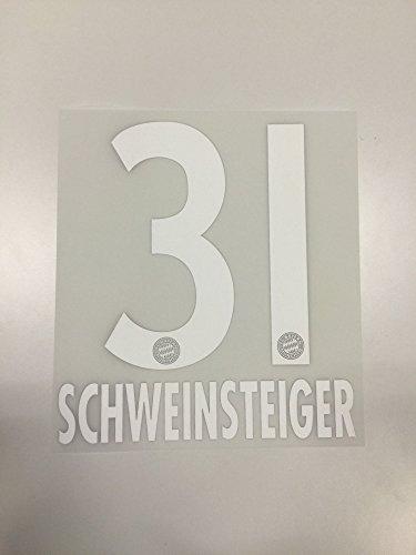 Flock Original FC Bayern München Trikot 23cm - Schweinsteiger 31