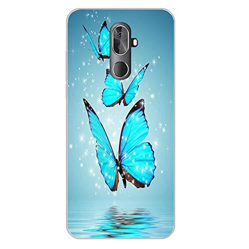 Easbuy Handy Hülle Soft TPU Silikon Case Etui Tasche für Cubot X18 Plus Smartphone Bumper Cover Handytasche Handyhülle Schutzhülle