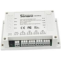 Baoblaze 4 Canales Módulo Interruptor WiFi Seguimiento Control Remoto Elegante Accesorios Cómodo