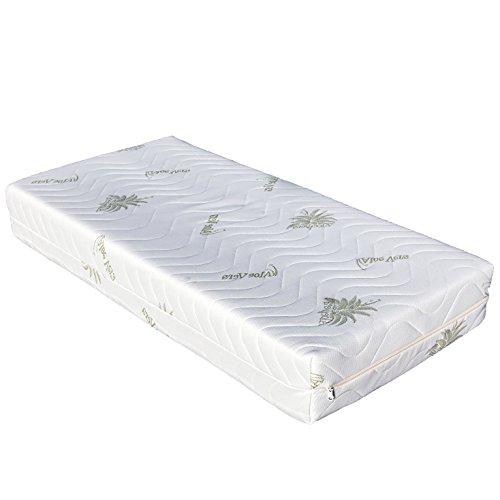 Materasso per culla baby 60x120 cm spessore 17 cm con MEMORY in aloe sfoderabile