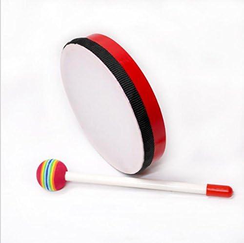 EoamIk InstruHommes ts de bébé InstruHommes t de de Musique de t Tambour de Tambour de Main coloré DE 15.2cm avec Le bâton (Rouge) B07J4H6Q78 03e71c