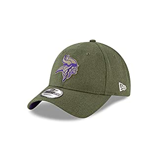 New Era Minnesota Vikings 9twenty Adjustable Cap On Field 2018 Salute to Service Green - One-Size