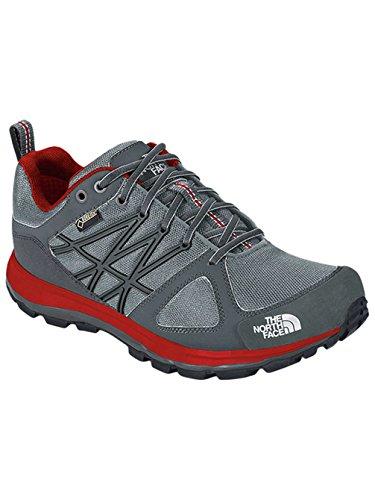 The North Face  Litewave GTX, Chaussures de trek et de randonnée homme - Griffin Grey/TNF Red