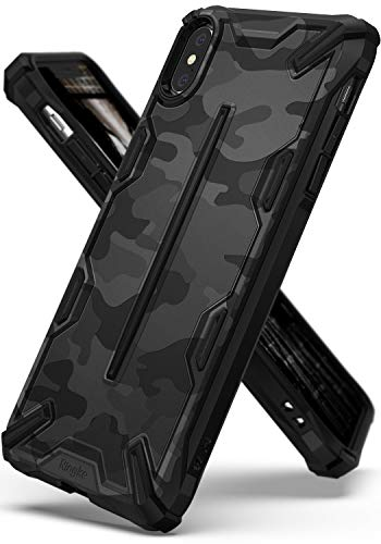 Ringke Dual-X Design Kompatibel mit iPhone XS Max [Camo Black] PC TPU Dual Layer Kratzfest Schwerlast Cover Stoßfest Case Ergonomisch Robust Stylish Panzer Handyhülle für iPhoneXS Max Schutzhülle -