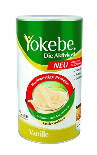 Yokebe. Die Aktivkost - Vanille - Diätshake zur Gewichtsabnahme - glutenfrei, laktosefrei und vegetarisch - Diät-Drink mit Proteinen (500 g = 12 Portionen)