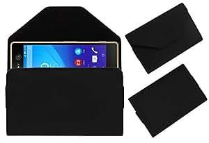 Acm Premium Pouch Case For Sony Xperia M5 Flip Flap Cover Holder Black