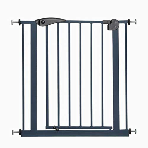 Baby Gates Sicherheitstor Für Treppen Innentür Extra Breite Halle Wandschutz Retractable Pet Tür 65-194 cm Breite Höhe 77 cm Treppe (Farbe : Schwarz, größe : 145-155cm)