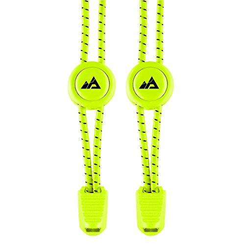 Adventure Lab - Schnürsenkel-Schnellverschluss | High Performance-Schnellschnürsystem mit einem Paar elastischer Schnürsenkel | Optimal für Kinder und Erwachsene, egal ob für den Triathlon oder die Sandkiste! (neon yellow)