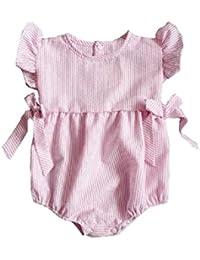 7df277f8e18 For 0-24 Months Clode® Summer Baby Toddler Infant Kids Girl Striped Gallus  Romper