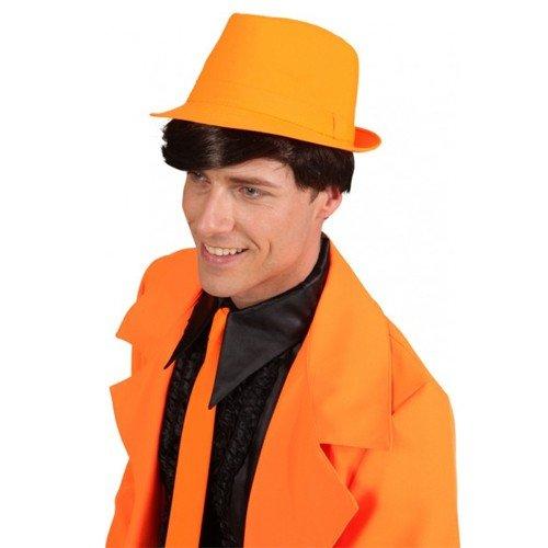 en Dance Musical Trilby Schlagerparty DJ Schlager Cappello, Farbe:Orange (80s Dance Party Kostüme)
