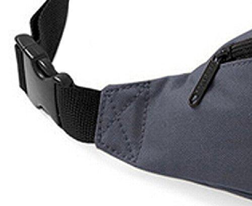 DATO Unisex Gürteltasche Klein Wasserdicht Sport Multifunktions Nylon Bauchtasche Tasche Hüfttasche Joggen Sport Gürtel Hip Pack BagBase Grau