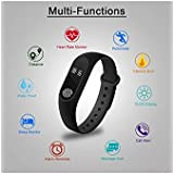FreshDcart Bluetooth Sport M2 Band Smart Wristband Pedometer With Heart Rate Monitor Watch,Black For All Smart Phone Men Women Girls Boys (Black)