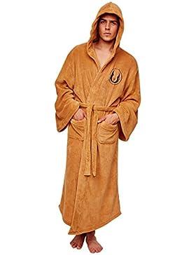 Albornoz de lujo Star Wars Star Wars Jedi con logo Jedi bordado marrón
