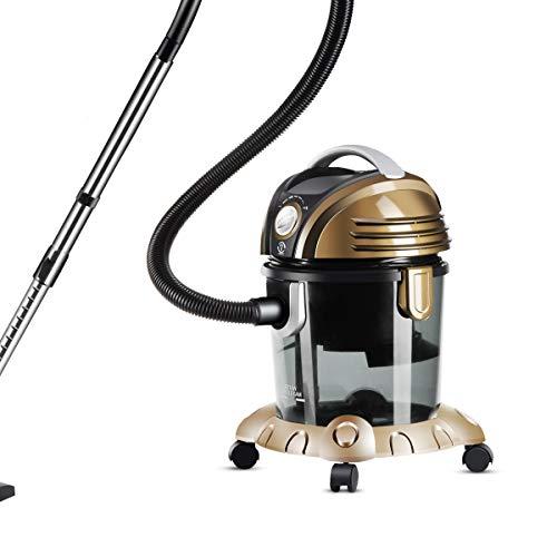 MODERN LIFE Staubsauger mit Wasserfilter Nass und Trockensauger HEPA 1400 Watt Gold (max. 1600W) kann bis zu 8.5 Liter Wasser aufsaugen Beutellos Wasserfiltersystem für Allergiker