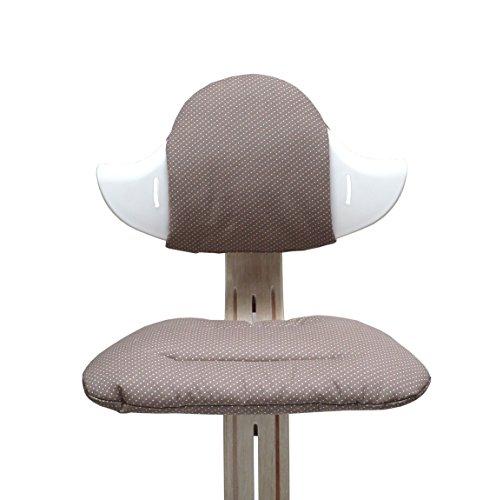 Blausberg Baby - Sitzkissen Set für Nomi Hochstuhl - Taupe Pünktchen