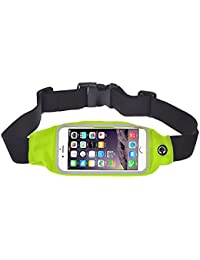 Green : Malloom® Iphone 6 Plus Waist Belt Bag Case Cover Sports Running Gym Suitable