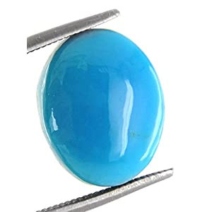 S KUMAR GEMS & JEWELS 11.25 Ratti Certified Turquoise (Firoza) Natural Gemstone for Men & Women