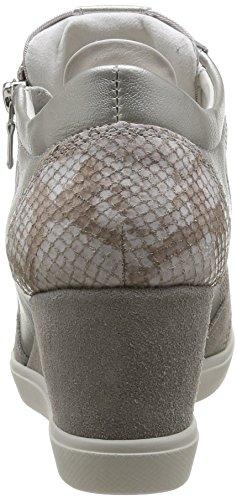 Geox D Eleni B, Baskets mode femme Gris (Lt Grey)