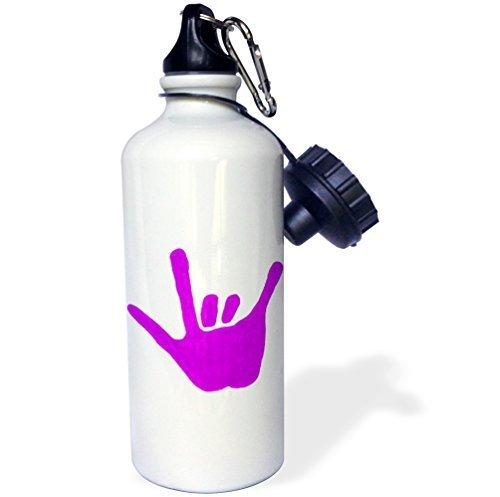 Moson Wasser Flasche Geschenk, Love Hand Sign Sprache in Lila, Edelstahl-Flasche für Frauen Herren Klauenhammer/Latthammer - Lila Brita-wasser Flasche