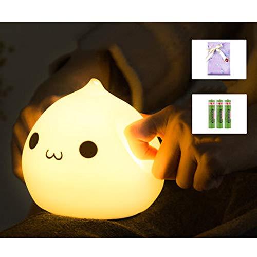 Preisvergleich Produktbild XQDSP LED Nachtlichter Kaninchen Silikon Nachtlicht Pat Baby Fütterung Schlaf Schlafzimmer Nachttischlampe Tischlampe, 2