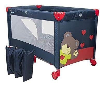 Chiccot - Una Cuna De Viaje Para Niños Con Colchón Para Dormir. Portátil y Plegable. 124 x 68 x 74 cm