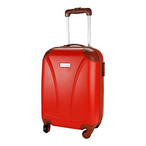 DFS512 Trolley rigido Pierre Cardin in ABS 4 ruote girevoli 48x34x20 cm. MEDIA WAVE store (Rosso)