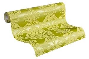 Livingwalls 554918 Papier Peint Intissé à motif Tendance Néo-Baroque Vert (Import Allemagne)