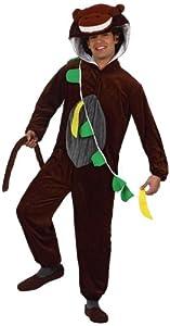 Atosa-10204-Disfraz-Disfraz de mono con plátano marrón-talla 2