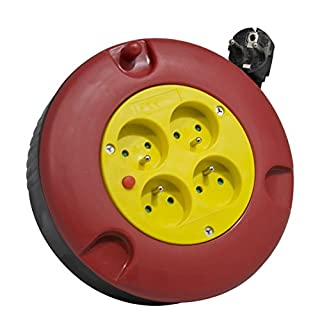 Arcotec 274128 Electric Cable Reel 4 sockets 3 x 1.5 mm² 5 m