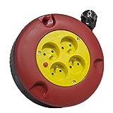Arcotec AR274128-274128 devanadera del cable eléctrico 5 m 4 sockets 3 x 1,5 mm²