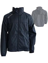 Kappa Pocojack Junior Rain Jacket / Kinder Regenjacke mit Kapuze Allwetter schwarz
