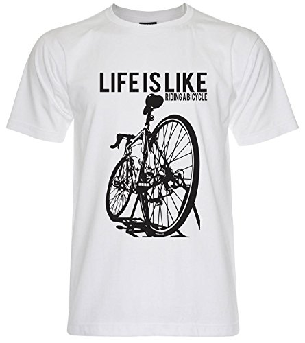 PALLAS Unisex's Cycling Life Is Like Riding A Bicycle White