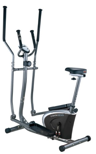 Body Sculpture BE6175 2-in-1 Magnetic Elliptical Cross Trainer and Bike - Grey/Black/Silver