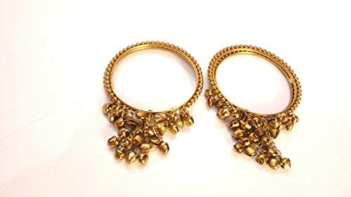 Floret Jewellery Yellow Flower Gota Patti Jewellery Set With Earrings & Maang Tika For Women