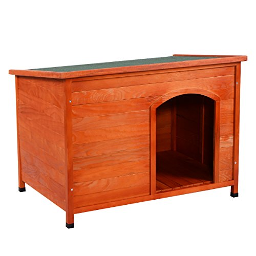 Perrera casa de madera perro mascota jaula Caseta grande XL azotea aislamiento cálida refugio casa