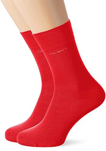 Camano Herren Socken 3642, Rot (True Red 0041), 43/46, 2er Pack