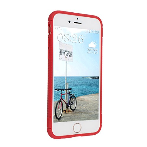 iPhone 6S Plus Hülle, Asnlove Ultra Slim TPU Silikon Backcover Bumper Case Handy Schutzhülle Rutschfest für iPhone 6 Plus / iPhone 6S Plus 5.5 Zoll - Rot Style-11