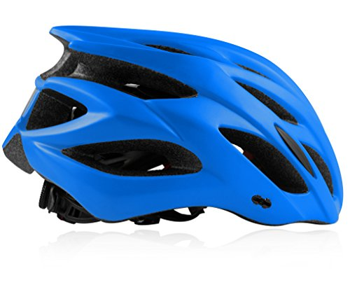 Shinmax Specialized Bike Helm mit Sicherheitslicht, Verstellbare Sport Fahrradhelm Fahrrad Fahrradhelme für Road & Mountain Biking, Motorrad für Erwachsene Männer und Frauen, Jugend – Racing, Sicherheit Schutz (Blau) - 2
