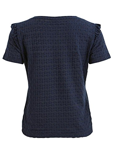Vila Damen Viwisty S/S T-Shirt Blau (Total Eclipse Total Eclipse)