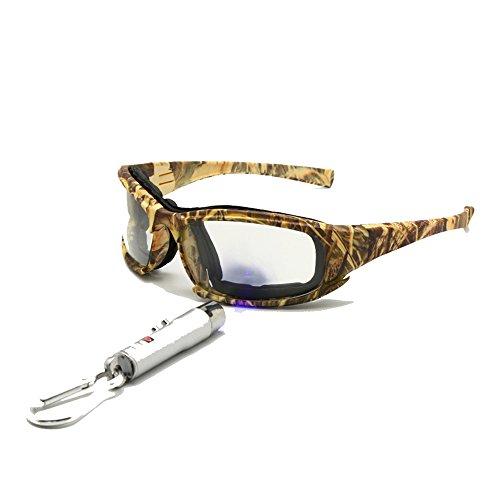 EnzoDate Polarisierte Daisy X7 Armee Sonnenbrille, militärische Brille 4 Objektiv Kit Taktische Schutzbrille (Camouflage, Übergang polarisiert)