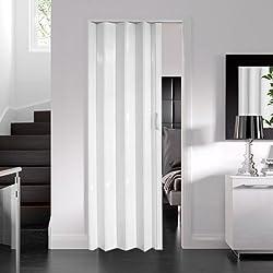 Dynasty Internal PVC Concertina Folding Door White Gloss (6mm Thick)