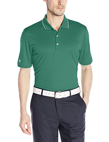 adidas Golf Men's Climacool Tipped Club Polo Shirt, Tech Forest F, XX-Large (Golf Climacool Polo)