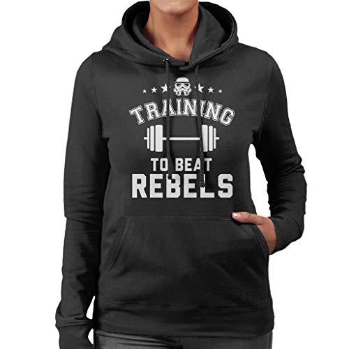 Original Stormtrooper Training to Beat Rebels Women's Hooded Sweatshirt