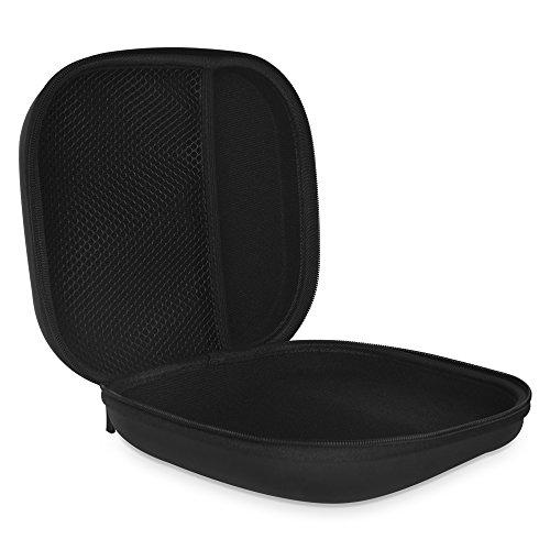 COWIN Caja de Transporte Portátil, Impermeable Cremallera Estuche Duro Bolsa de Viaje, Ajuste Perfecto Auricular de Sobre-oído Para E7 - Negro