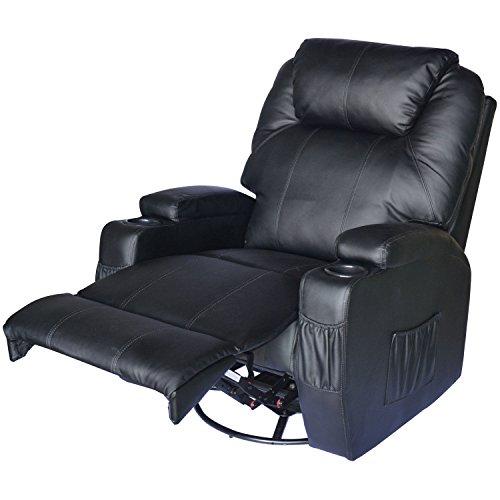 Homcom® Massagesessel Fernsehsessel mit Heizfunktion und Massagefunktion schwarz - 5
