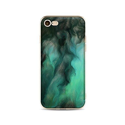 Coque iPhone 6 Plus 6s Plus Housse étui-Case Transparent Liquid Crystal Gouache Art en TPU Silicone Clair,Protection Ultra Mince Premium,Coque Prime pour iPhone 6 Plus 6s Plus-style 9 11